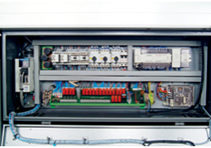 Fully-functional PLC control combined with comprehensive data bank software. Feed positioning, torque and speed are accurately controlled and perfectly interfaced with the CNC lathe.